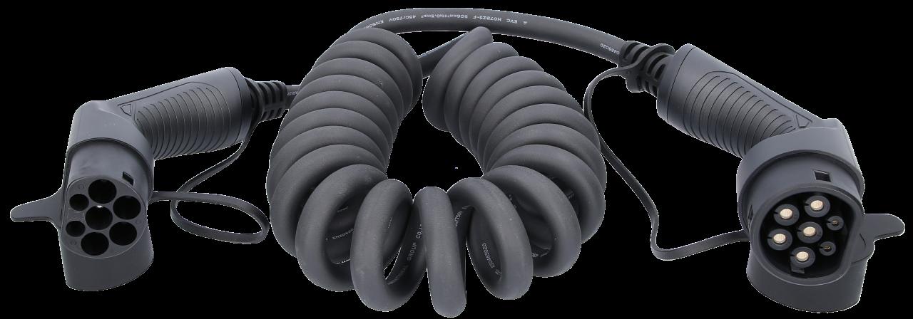 efuturo® flexible link Spiralladekabel Typ 2 auf Typ 2 Stecker
